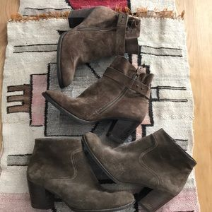 Paul green brown suede ankle boots 2 pairs! Dallas